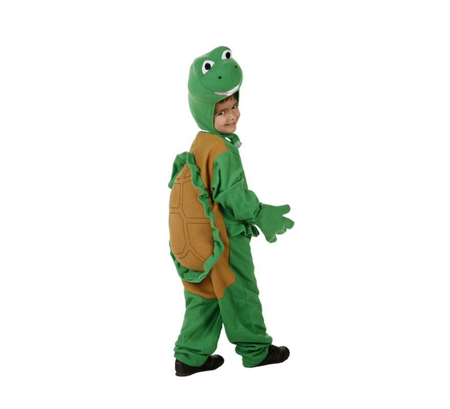 Disfraz de Tortuga para niños de 5 a 6 años. Incluye disfraz completo.