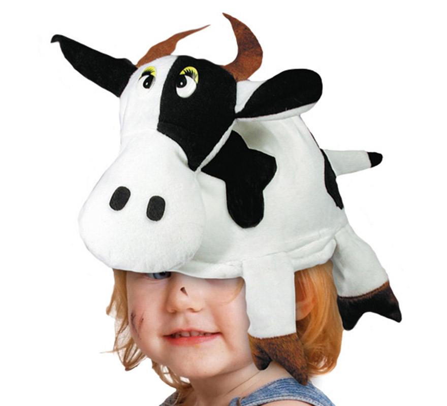 Gorro de Vaca de 58-60 cm de diámetro. Gorra de Vaca muy original y divertida.
