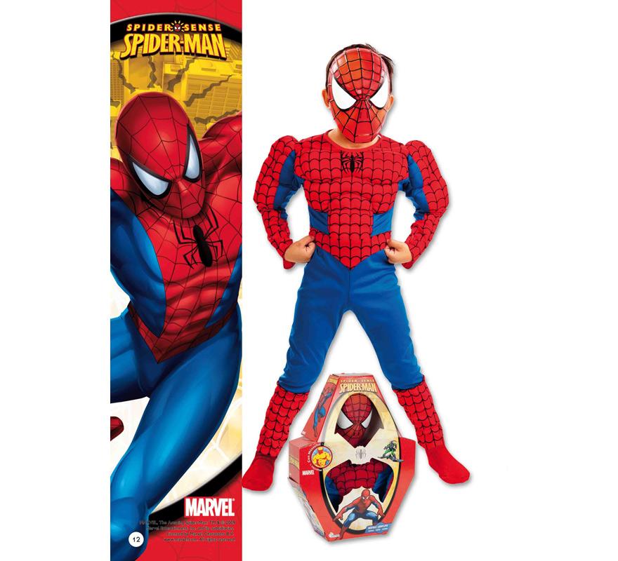 Disfraz de Spiderman con músculos infantil para Carnaval. Varias tallas. Incluye disfraz con músculos y careta. Presentación en caja regalo. Disfraz con licencia MARVEL perfecto como regalo. Éste traje es perfecto para Carnaval y como regalo en Navidad, en Reyes Magos, para un Cumpleaños o en cualquier ocasión del año. Con éste disfraz harás un regalo diferente y que seguro que a los peques les encantará y hará que desarrollen su imaginación y que jueguen haciendo valer su fantasía.  ¡¡Compra tu disfraz para Carnaval o para regalar en Navidad o en Reyes Magos en nuestra tienda de disfraces, será divertido y quedarás muy bien!!