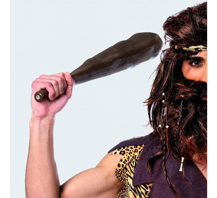 Porra Troglodita de 54cm. Complemento de Alta Calidad hecho en España ideal para disfraces de troglodita, cavernícola o hombre de las cavernas.