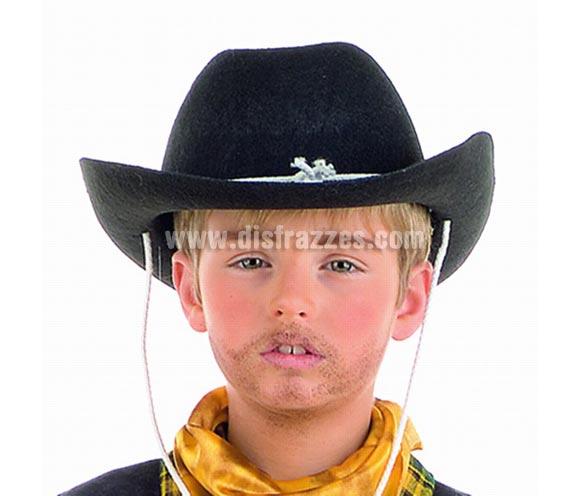Sombrero Vaquero fieltro deluxe.. Complemento de Alta Calidad hecho en España ideal para disfraces del Oeste de cowboy o vaquero.