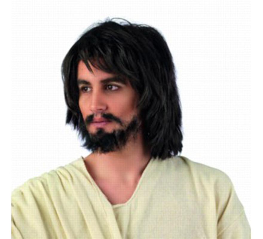 Peluca de Jesucristo Corta Deluxe para hombre. Talla Universal..
