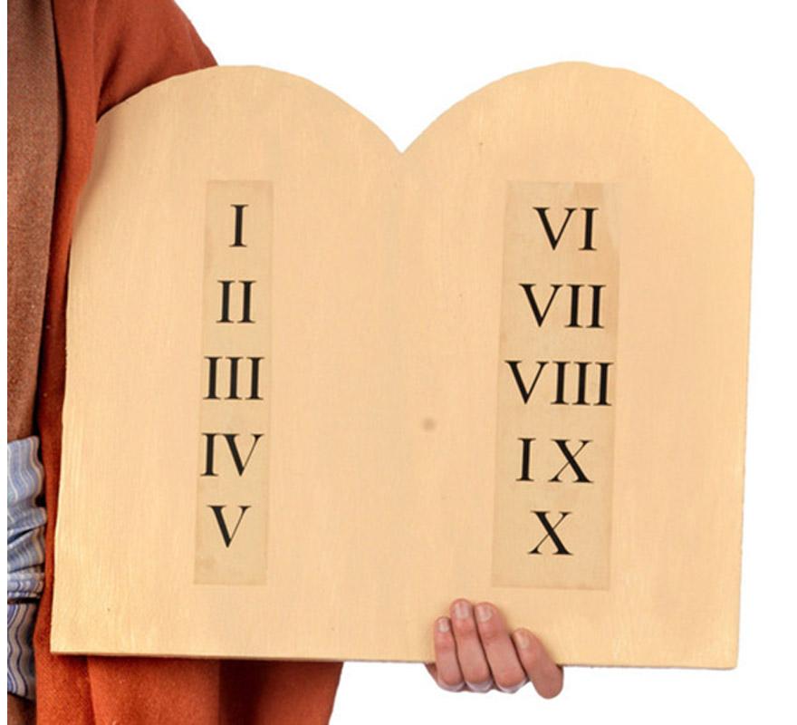 Tablas de los 10 Mandamientos de Moises.