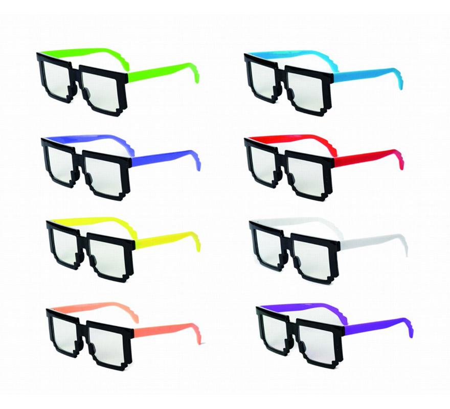 Gafas Negras con patilla de colores. Alta calidad.