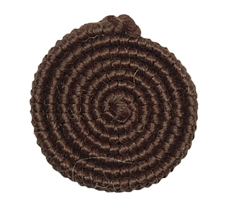 Crepe de lana MARRÓN, es una hebra tejida hecha de piezas de lana de borrego. Este producto se puede utilizar para hacer barbas, bigotes, cejas y patillas de un solo uso. El crepé de lana se utiliza para ocultar los bordes de la barba postiza y para crear un efecto de barba incipiente. Cuando se quieran disimular los bordes de la barba postiza, recomendamos que trabaje con piezas de  (crepé de lana) de al menos 50 cm de largo. Colores: Wol Crepe está disponible en una gran variedad de colores. Los colores se pueden combinar entre sí y se pueden colorear después con Eyeshadow/Rouge (sombra para ojos)  si es necesario. Para disimular los bordes de la barba de 'Santa Claus' o de Papá Noel recomendamos el color número 2 (rubio claro) para una barba coloreada con crema o de pelo de búfalo y el color número 1 (blanco) para una barba blanca postiza sintética.