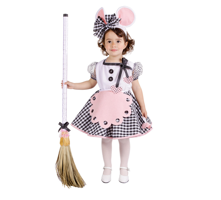 Disfraz Ratita Presumida para niñas (varias tallas). Incluye vestido y tocado de la cabeza. Buena Calidad, hecho en España.