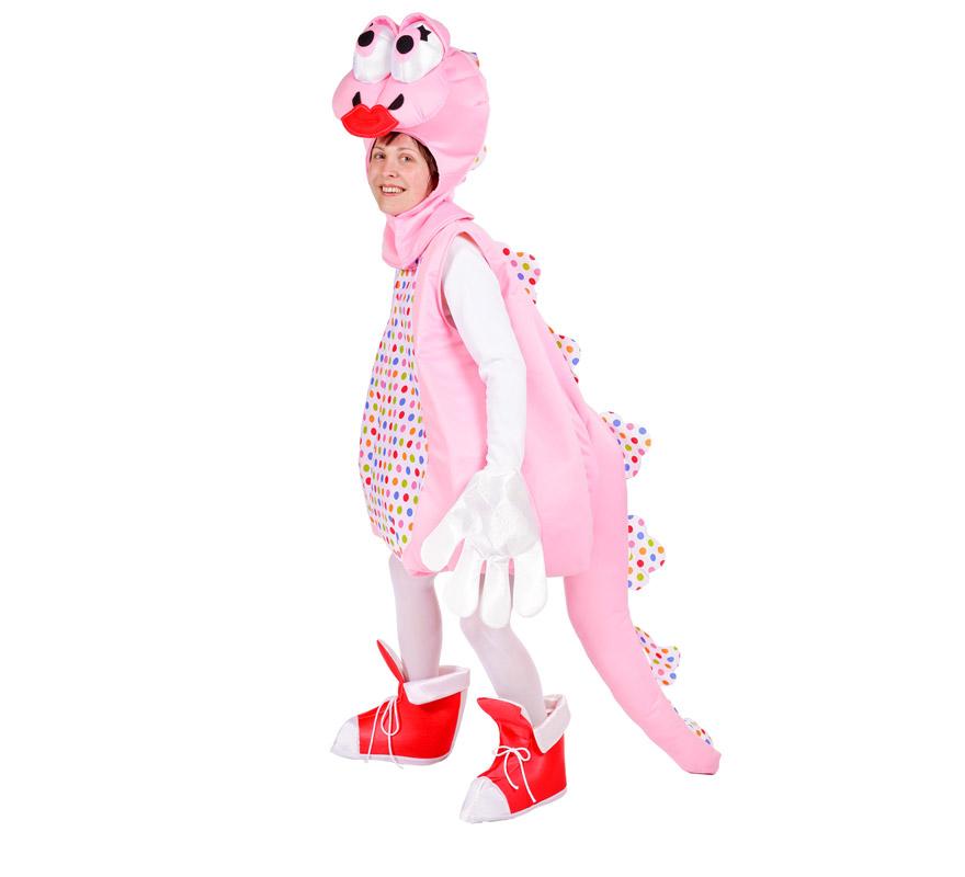 Disfraz de Dinosaurio para mujer. Talla Universal. Incluye capucha, traje, guantes y cubrepies. Alta calidad, fabricado en España. .ATENCIÓN GRUPOS Y COMPARSAS, podemos sacar el precio para hacerlo en distintas edades para niños, pero siempre un mínimo de 6 uds. por talla.