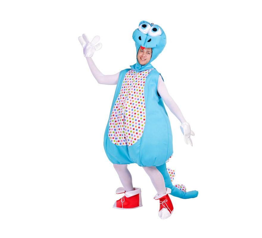 Disfraz de Dinosaurio para hombre. Talla Universal. Incluye capucha, traje, guantes y cubrepies. Alta calidad, fabricado en España. .ATENCIÓN GRUPOS Y COMPARSAS, podemos sacar el precio para hacerlo en distintas edades para niños, pero siempre un mínimo de 6 uds. por talla.
