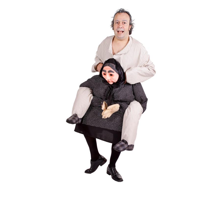 Disfraz de Abuelo quejica para adultos. Talla Universal. Incluye disfraz completo. Alta calidad, fabricado en España.