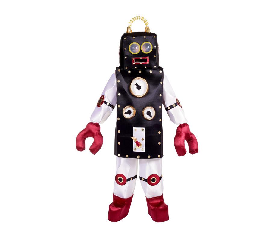 Disfraz de Robot PALANQUINO para hombre. Talla Universal. Incluye disfraz completo. Alta calidad, fabricado en España.
