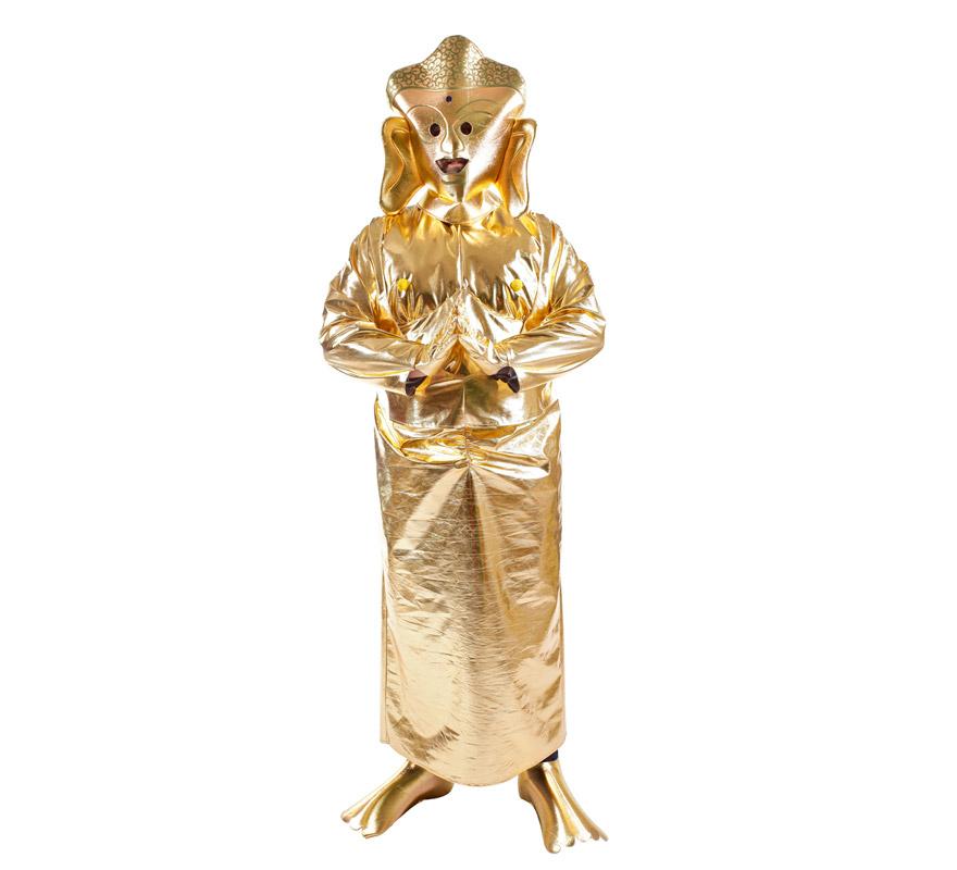Disfraz de Buda Happy para adultos. Talla Universal. Incluye disfraz completo. Alta calidad, fabricado en España.