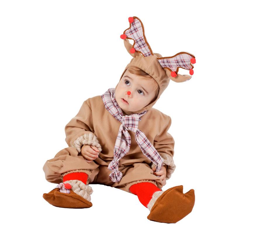 Disfraz o pelele de Reno para bebés de 10 meses para Navidad. Alta calidad. Fabricado en España.