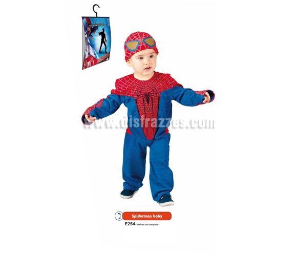Disfraz de Spiderman Baby para bebés de 18 a 36 meses. Incluye disfraz con casquete. Disfraz con Licencia MARVEL ideal para regalar en Navidad y en cualquier ocasión del año. Presentación en percha y bolsa.
