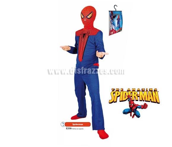 Disfraz de Spiderman para niños (varias tallas). Incluye disfraz con capucha. Disfraz con Licencia MARVEL perfecto para pedírselo a los Reyes Magos. Presentación en percha y bolsa.