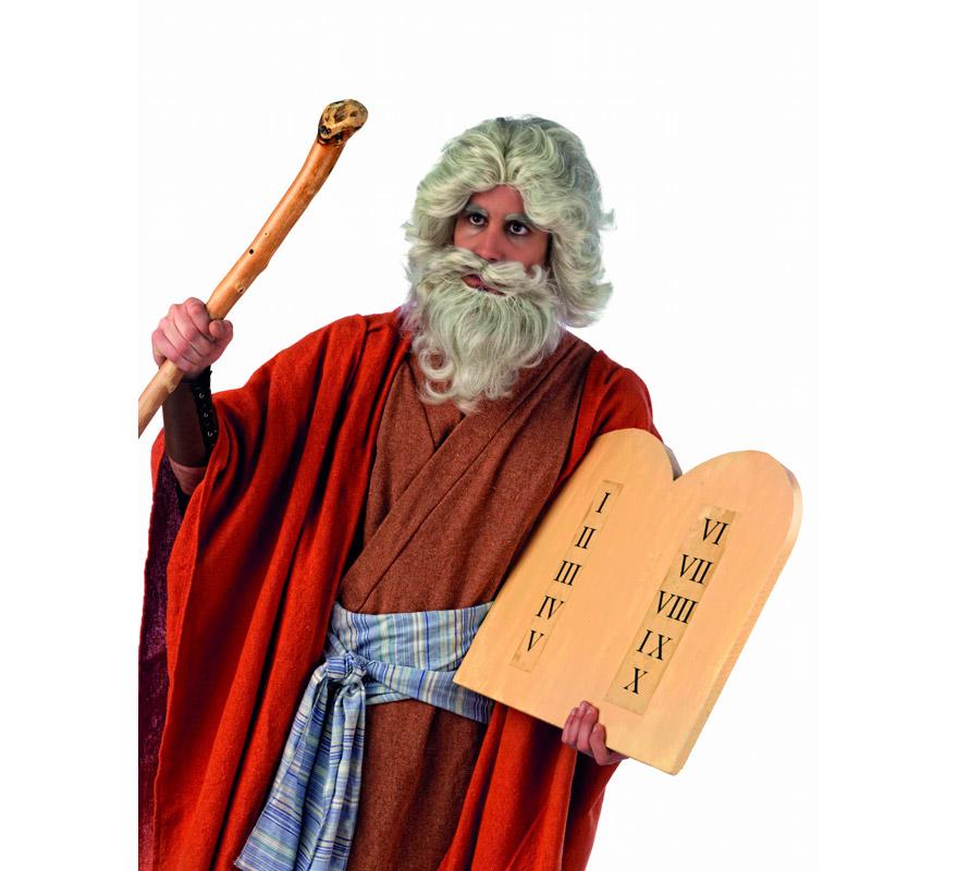 Disfraz de Moises Extraluxe para hombre. Alta calidad, hecho en España. Disponible en varias tallas. Incluye túnica, mantón y fajín. Vara y Tablas NO incluidas, podrás encontrarlas en nuestra sección de Complementos.