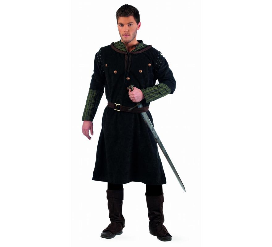 Disfraz de Medieval Rodrigo Extraluxe para hombre. Alta calidad, hecho en España. Disponible en varias tallas. Incluye casaca, pantalón, cinturón y cubrebotas. Espada NO incluida, podrás encontrarla en nuestra sección de Complementos.