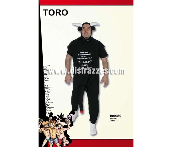Disfraz de Toro con sorpresa para Despedidas. Incluye gorro y mono con impresión.