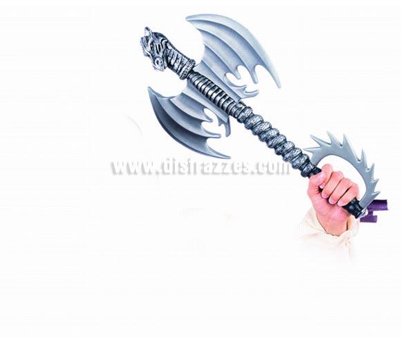 Hacha de Dragon deluxe. Complemento de Alta Calidad hecho en España para disfraces de enano, guerrero medieval, vikingo o bárbaro. Perfecto para imitar al enano Gimli de la película de