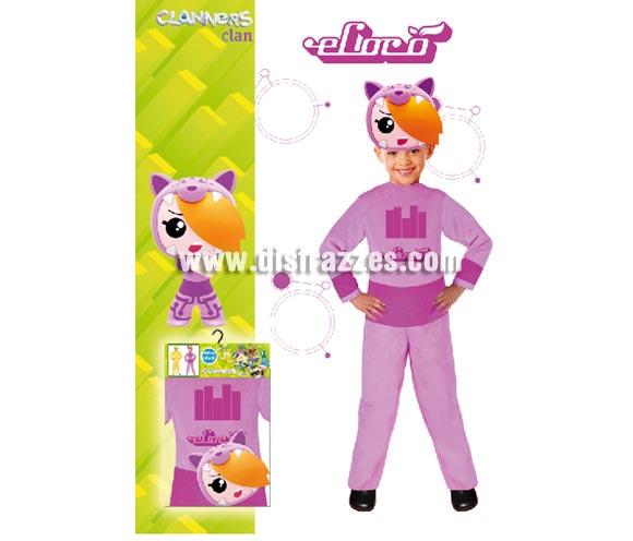 Disfraz barato de Ecoco de LOS CLANNERS Clan para niñas