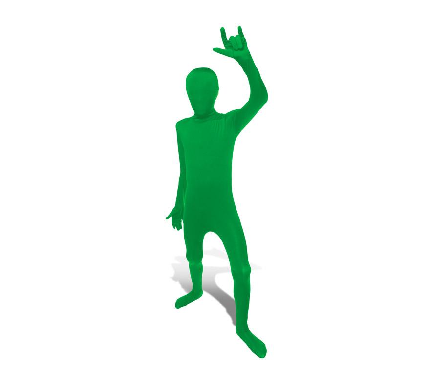 Mono entero o Disfraz de MORPHSUIT color verde talla L para niños de 137 a 152 cm de altura. Los Morphsuits están diseñados para que puedas ver a través de ellos, beber a través de ellos y sobre todo, divertirte. Perfectos para halloween, fiestas y eventos especiales. Muestra tu ingenio y creatividad combinándolos con diferentes accesorios, serás único. Atención, el mono lleva impreso en la parte trasera el logotipo de Morphsuit.