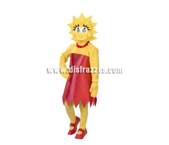 Disfraz de Lisa Simpson adulta. Alta calidad. Hecho en España. Talla única 44. Incluye traje completo con la máscara, tal y como se ve en la foto. Éste disfraz es ideal para Grupos o Comparsas y se pueden hacer varias tallas si el pedido es de una cantidad grande.