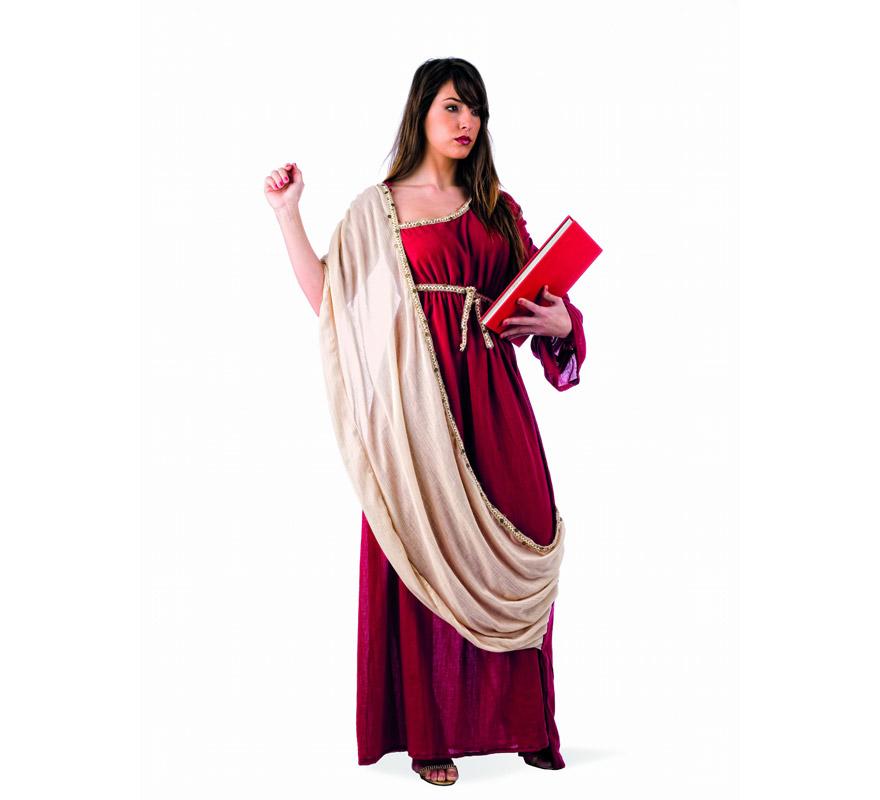 Disfraz de Hipatia de Alejandria Deluxe para mujer. Alta calidad, hecho en España. Disponible en varias tallas. Incluye vestido. Libro NO incluido.
