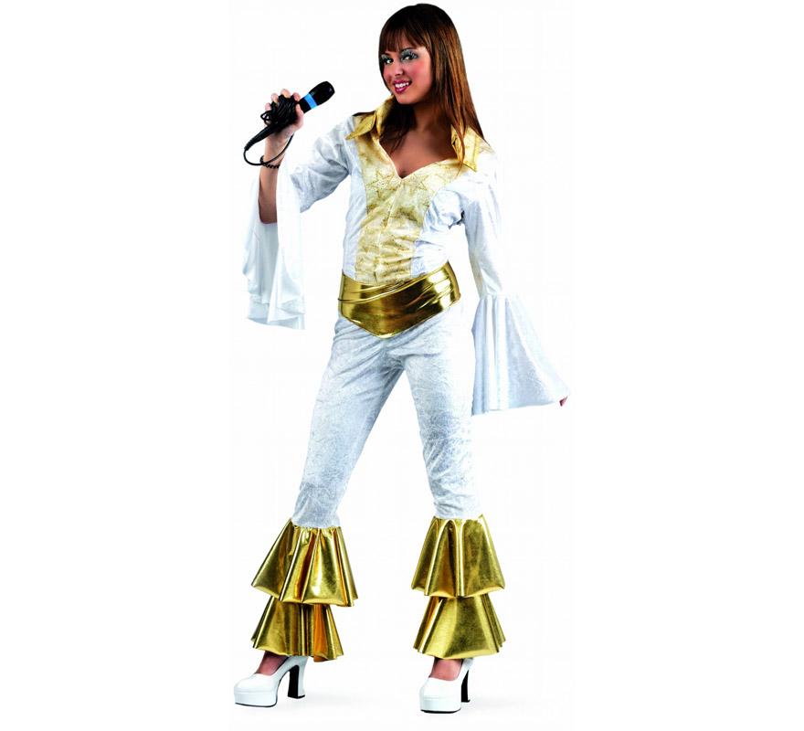 Disfraz de Musical Meryl Deluxe para mujer. Alta calidad, hecho en España. Disponible en varias tallas. Incluye mono con cinturón. Micrófono NO incluido, podrás encontrarlo en la sección de Complementos.