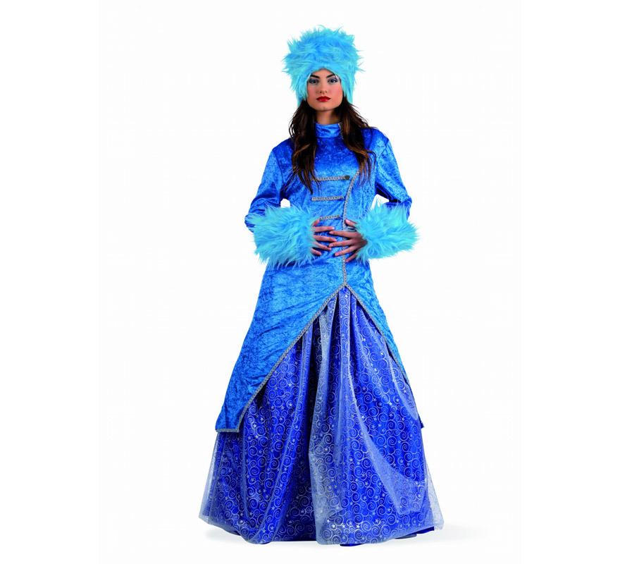 Disfraz de Princesa Rusa Deluxe para mujer. Alta calidad, hecho en España. Disponible en varias tallas. Incluye vestido y gorro.