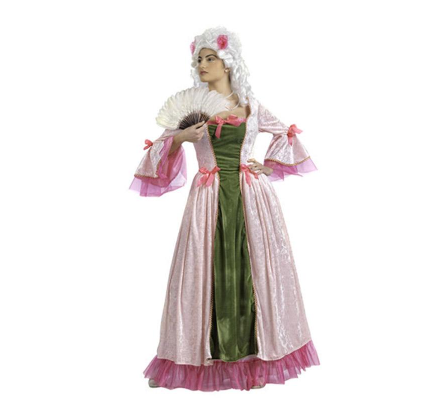 Disfraz de Princesa Francesa de Época Deluxe para mujer. Alta calidad, hecho en España. Disponible en varias tallas. Incluye vestido. Peluca y abanico NO incluidos, podrás encontrarlos en nuestra sección de Complementos.