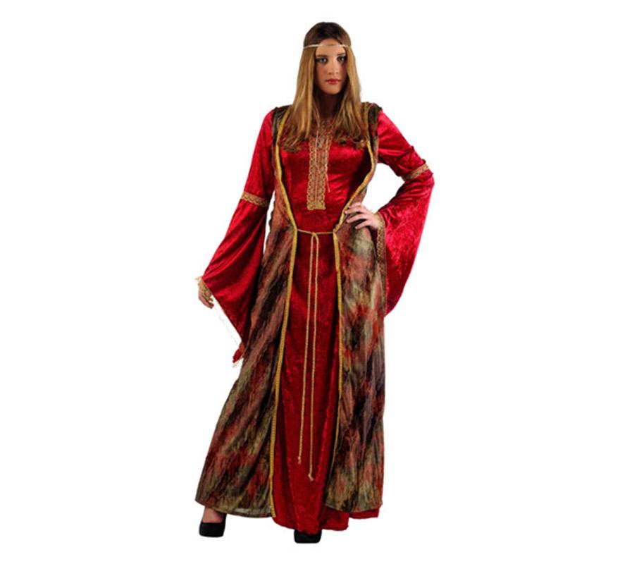 Disfraz Medieval de Diana Deluxe para mujer. Alta calidad, hecho en España. Disponible en varias tallas. Incluye vestido, chaleco y cinta del pelo.