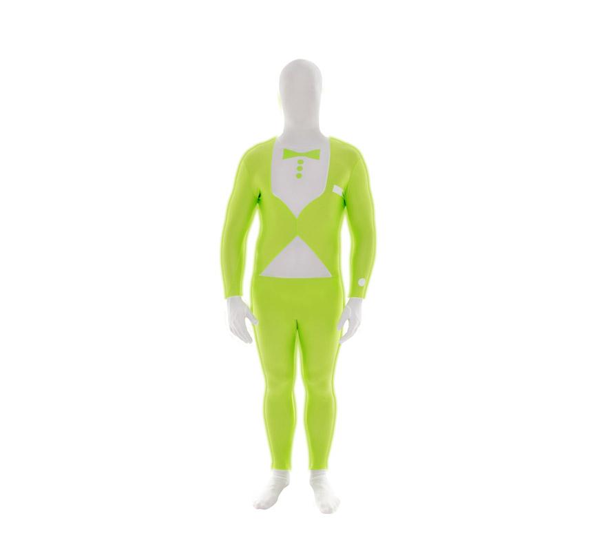Mono entero o Disfraz de MORPHSUIT modelo traje verde fluorescente con pajarita talla L de adultos. Los Morphsuits están diseñados para que puedas ver a través de ellos, beber a través de ellos y sobre todo, divertirte. Perfectos para despedidas, halloween, fiestas y eventos especiales. Muestra tu ingenio y creatividad combinándolos con diferentes accesorios, serás único. Atención, el mono lleva impreso en la parte trasera el logotipo de Morphsuit.