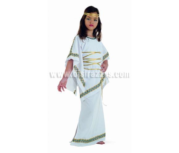 Disfraz de Griega infantil Deluxe. Hecho en España. Disponible en varias tallas. Incluye túnica y cinta de la cabeza. También se usa como disfraz para Belén en Navidad.