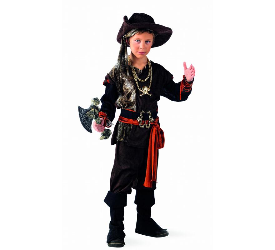 Disfraz barato de Pirata Aventurero Deluxe para niño