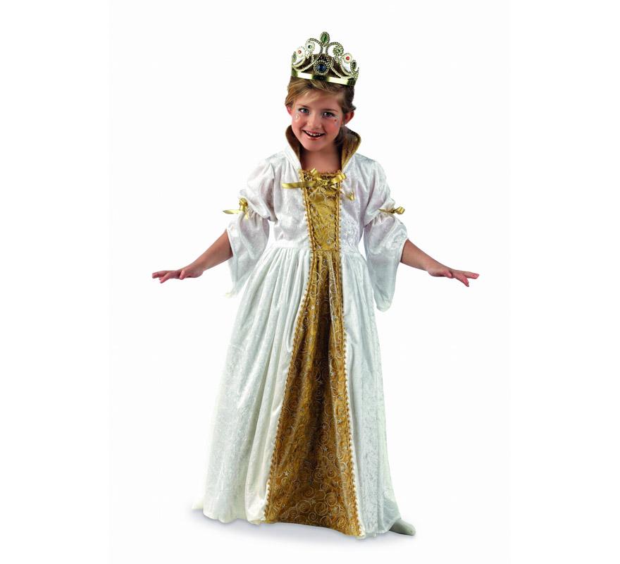 Disfraz de Princesa Alice Deluxe para niña. Alta calidad, hecho en España. Disponible en varias tallas. Incluye vestido. Tiara NO incluida, podrás encontrarla en nuestra sección de Complementos.