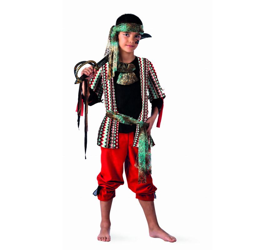 Disfraz barato de Pirata Malvado Deluxe para niño