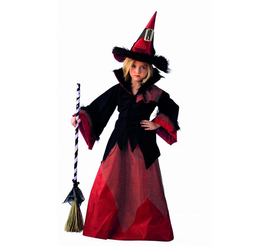 Disfraz de Bruja Dacha Deluxe para niña.  Alta calidad, hecho en España. Disponible en varias tallas. Incluye chaqueta, falda y sombrero. Escoba No incluida, podrás encontrarla en nuestra sección de Complementos.