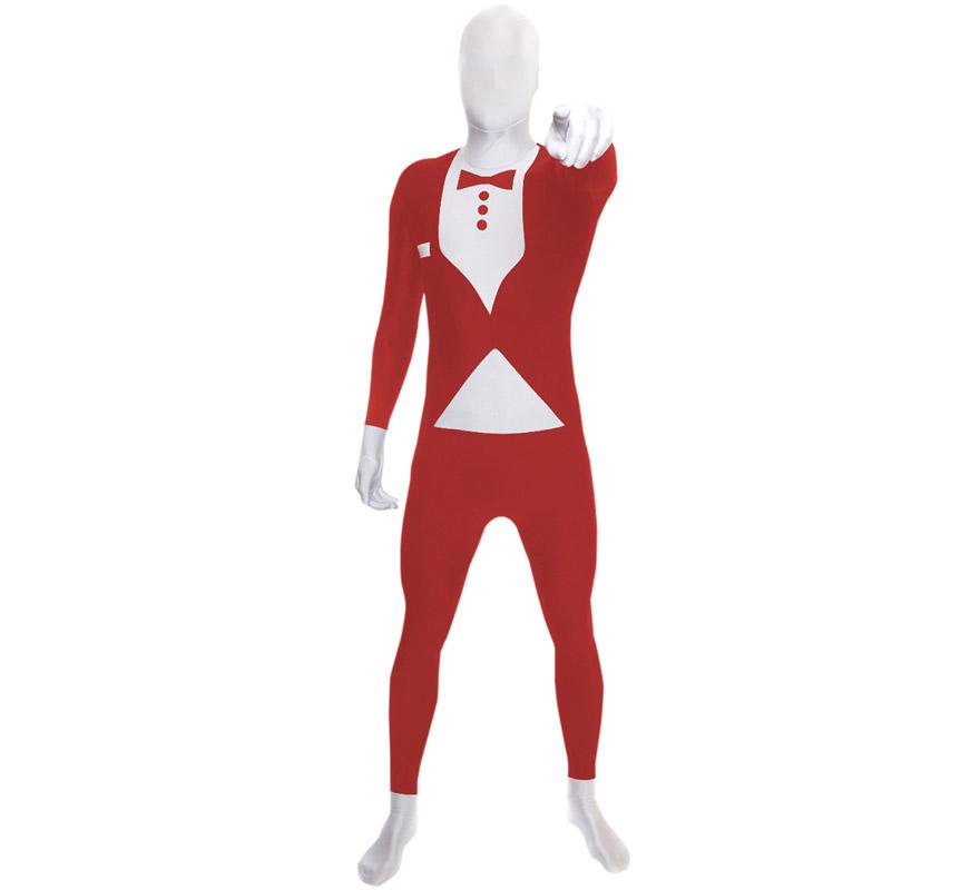 Mono entero o Disfraz de MORPHSUIT modelo traje rojo con pajarita talla M de adultos. Los Morphsuits están diseñados para que puedas ver a través de ellos, beber a través de ellos y sobre todo, divertirte. Perfectos para despedidas, halloween, fiestas y eventos especiales. Muestra tu ingenio y creatividad combinándolos con diferentes accesorios, serás único. Atención, el mono lleva impreso en la parte trasera el logotipo de Morphsuit.