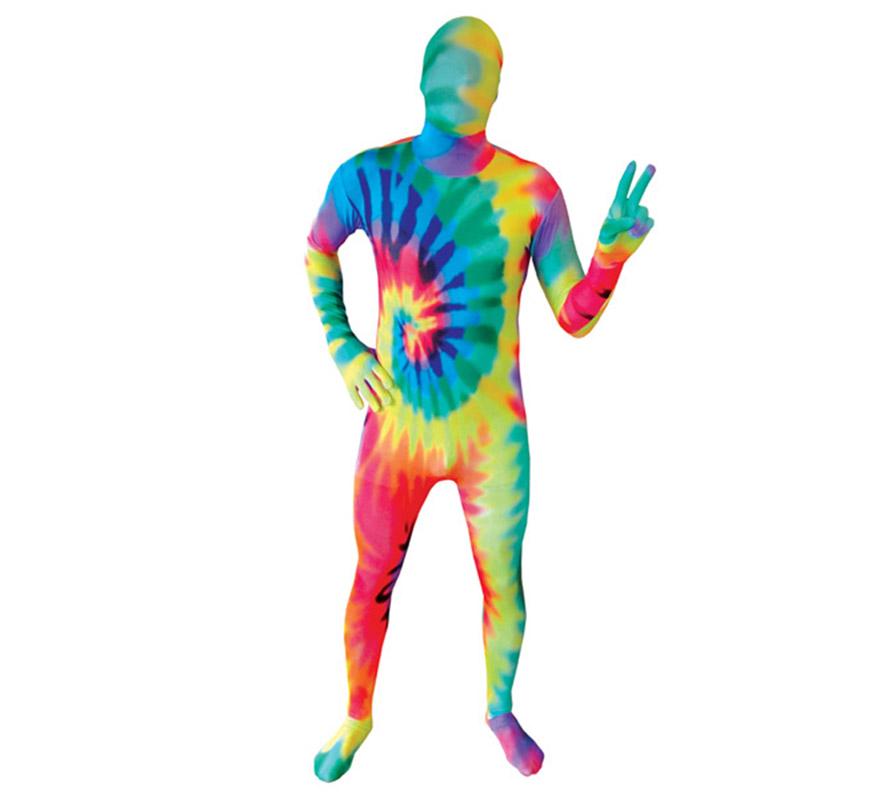 Mono entero o Disfraz de MORPHSUIT modelo multicolor o colorido talla XXL de adultos. Los Morphsuits están diseñados para que puedas ver a través de ellos, beber a través de ellos y sobre todo, divertirte. Perfectos para despedidas, halloween, fiestas y eventos especiales. Muestra tu ingenio y creatividad combinándolos con diferentes accesorios, serás único.