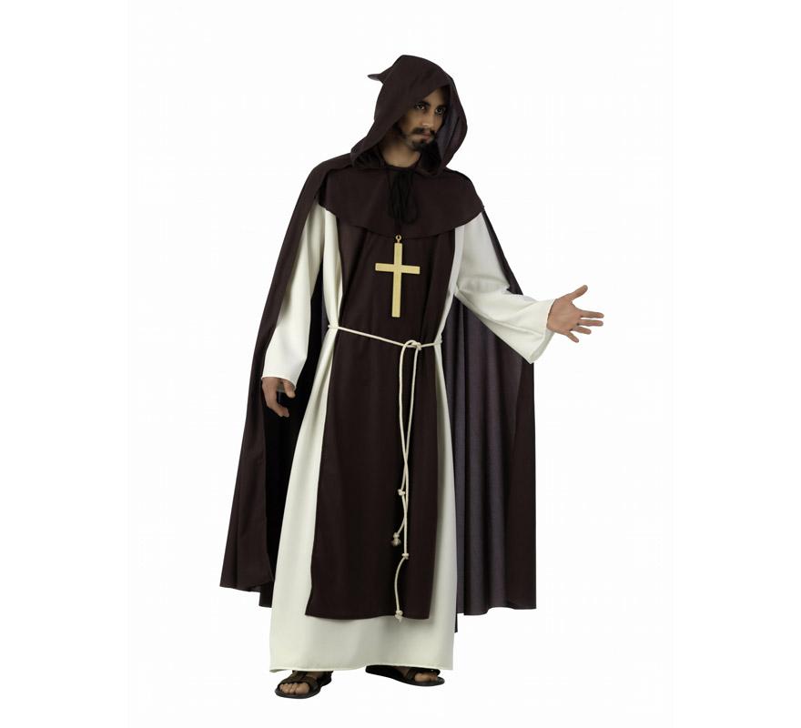 Capa de Monje Cisterniense Medieval Deluxe hombre. Alta calidad, hecho en España. El precio incluye sólo la capa, el disfraz lo podrás ver con la ref. MA225LI. Disponible en varias tallas.
