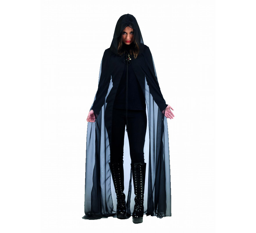 Capa de Gasa Negra Deluxe para mujer. Alta calidad, hecho en España. El precio incluye sólo la capa.