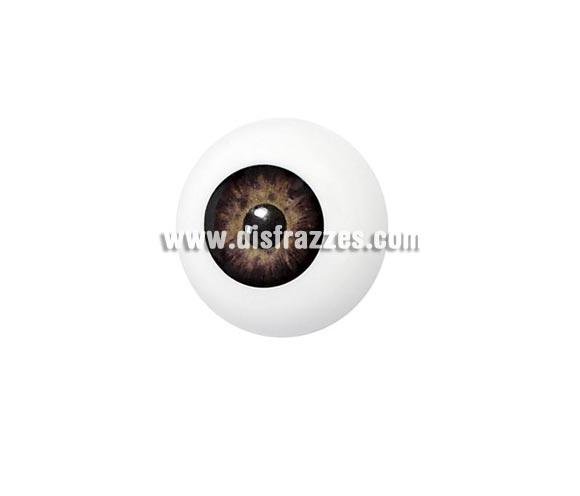 Ojo artificial de color marrón.    Artificial Eye, es un ojo artificial de plástico que puede ser utilizado para crear varios efectos. Este producto se puede utilizar en combinación con Derma Wax  o un parche de látex de Quasimodo (Narices de látex  y Estuches no.13). El ojo artificial se vende en paquetes individuales.  Colores Artificial Eye está disponible en color azul, marrón y verde. El maquillaje se puede complementar con todos los tipos de maquillaje .  Limpieza Artificial Eye se puede lavar con agua y jabón.