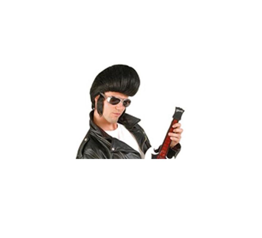 Peluca de Elvis o de Rockero con tupé
