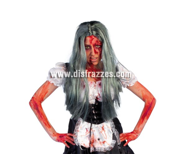 Peluca de Zombie mujer para Halloween.