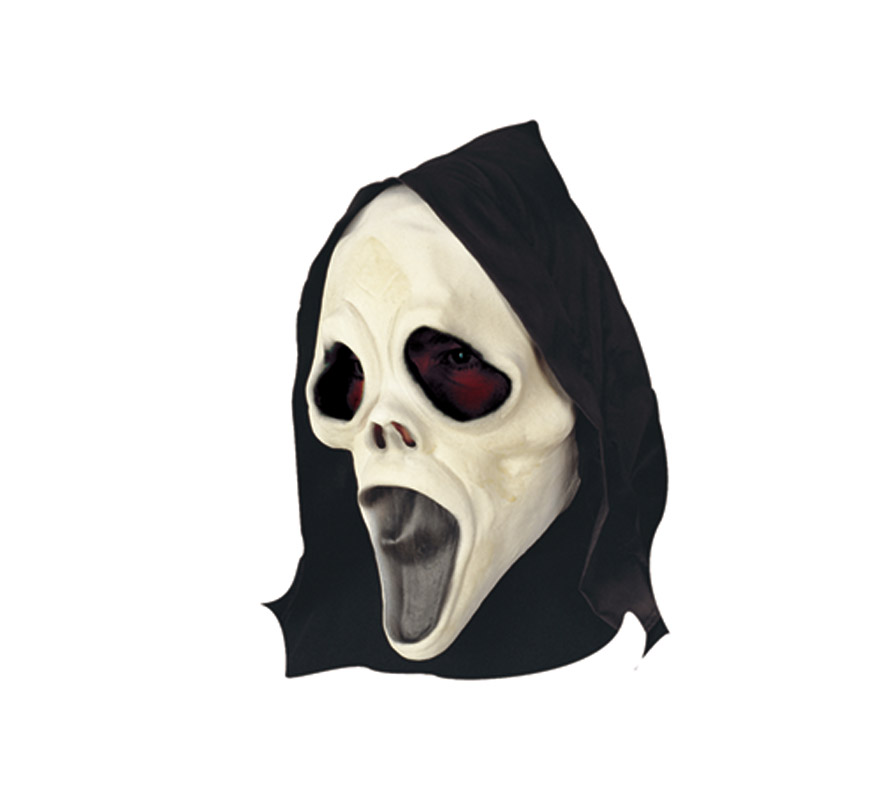 Máscara de Scream para Halloween. Máscara o Careta de Halloween de material blando, no es rígida.