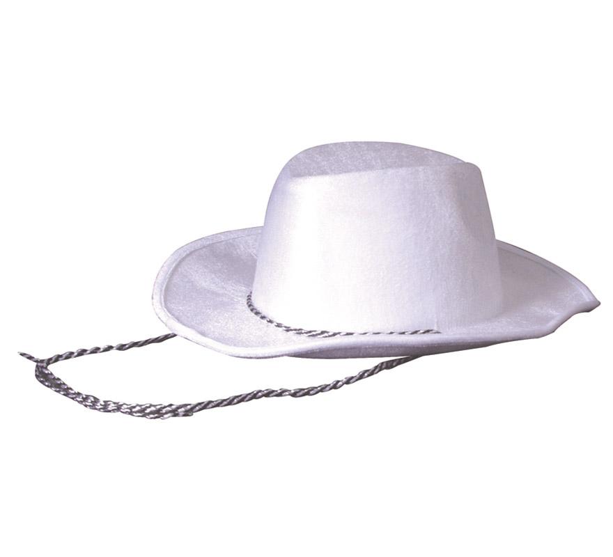 Sombrero Vaquero o Pistolero Cowboy blanco. Perfecto para Despedidas de Soltero y Soltera.