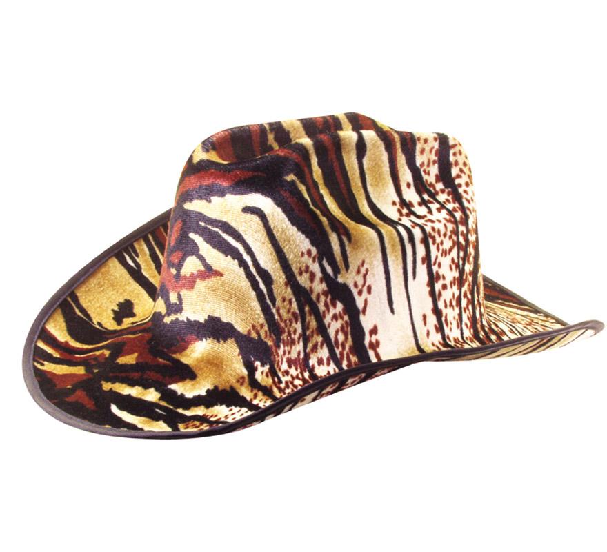 Sombrero Vaquero o Pistolero Cowboy pantera. Perfecto para Despedidas de Soltero y Soltera.