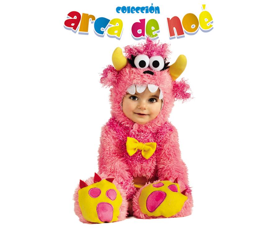 Disfraz de Pinky Winky para niñas de 1 a 2 años. Incluye jumpsuit y gorro. Presentación en bolsa de regalo. Coleccción del Arca de Noé.