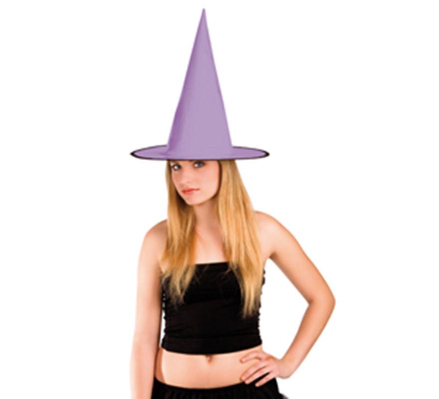 Sombrero de Bruja de charol lila para Halloween.