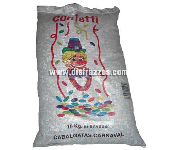 Saco Confetti multicolor de 10 kg. para Cabalgatas de Reyes y Carnaval.