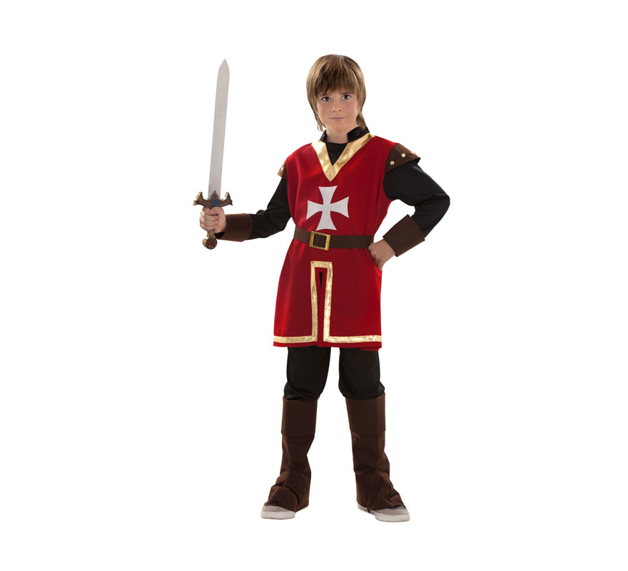 Disfraz de Marqués de Malta para niños de 3 a 4 años. Incluye casaca, pantalón, cinturón y cubrebotas. Disfraz Medieval para niños.